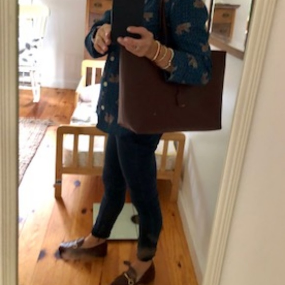"Yves Saint Laurent Handbags - Yves Saint Laurent ""Shopping"" Leather Tote-"